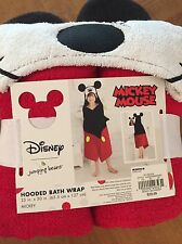 NEW Disney Mickey Mouse Jumping Beans Hooded Bath Towel Toddler