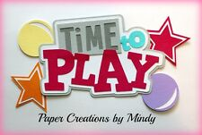 Craftecafe Mindy Play time boy girl baby title premade paper piecing scrapbook