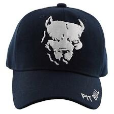 NEW! PIT BULL DOG PITBULL BALL CAP HAT NAVY