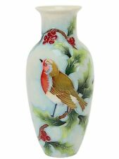 "Old Tupton Ware British Birds Robin Vase 8.5"" TW7949"