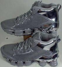 New Mens 10.5 NIKE Shox TLX Mid SP Reflect Silver Chrome Shoes $200 677737-003