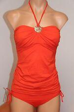 NWT Michael Kors Swimsuit Tankini 2 pc set Sz L Grenadine Shirred Bandini