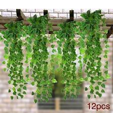 12x 7.5ft Artificial Ivy Vine Fake Foliage Dried Flower Leaf Plant Garland  MT