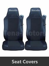 2 x MERCEDES ACTROS AXOR Seat Covers Tailored HGV Truck Lorry Black / Black