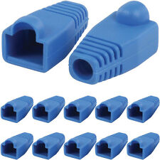 10x Blue RJ45 Strain Relief - Network Cable CAT5/6 Connector Boot/Cover/Cap/En