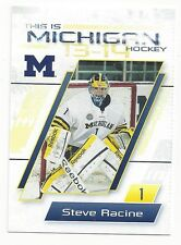 2013-14 Michigan Wolverines Steve Racine (goalie) Atlanta Gladiators