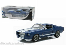 GREENLIGHT 1967 FORD SHELBY MUSTANG GT 500 1/18 BLUE with WHITE STRIPES 12953BL