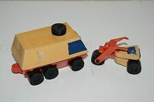 Vintage Wooden 1973 Rolling Van Toy and Tricycle Lot of 2 MATTEL