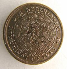1912 Netherlands 1/2 cent penny - circulated