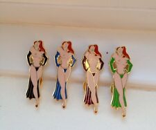 Rare Sexy Rude Naked Nude Catwalk JESSICA RABBIT Pin Badges Ltd Ed 100XXX !!!!!!