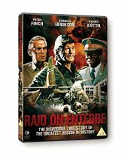 Raid on Entebbe [1976] Genuine UK DVD NEW SEALED - Peter Finch, Charles Bronson