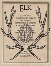ELK PRAYER Parchment Page for Book of Shadows!  pagan wicca witch