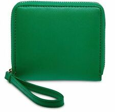 BNWT Authentic LIZ CLAIBORNE Zip Around Small Wallet Wristlet Green