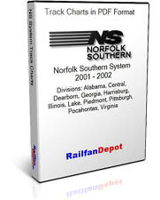 Norfolk Southern System 11 track charts 2001 2002 - PDF on CD - RailfanDepot