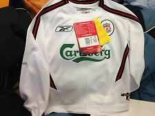 LIVERPOOl AWAY 2002/4 22/24 OR 24/26 INCH BNWL AT £10   IN WHITE LONG SLEEVE