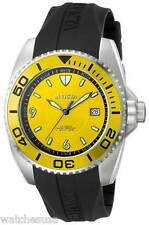 Invicta Pro Diver Mens Yellow Dial Black Rubber Strap Automatic Watch 6058