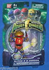 "Mighty Morphin Power Rangers 4"" Alpha 5 & Zordon New Factory Sealed 2009"