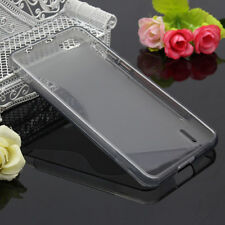 HOUSSE ETUI COQUE SILICONE GEL GRIS HUAWEI HONOR 6