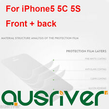 Front&Back Screen Protector Transparency Clear Scratch-resistant iPhone 5 5C 5S