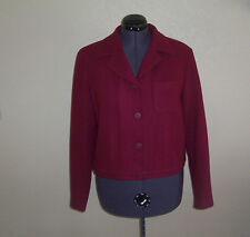 Womens J.G. Hook Burgundy Lined Wool Jacket 16