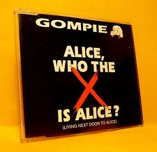 MAXI Single CD GOMPIE Alice Who the X Is Alice 4TR 1995 pop rock parody