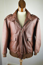 Vintage SCHOTT  A-2 LEATHER Flight Jacket Pilot Motorcycle Jacket burgandy 48