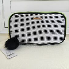 Authentic New KESTREL DOUBLE ZIP CLUTCH Cosmetic Travel MakeUp Bag Case CharmNWT