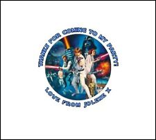 35 x personnalisé Star Wars 37mm anniversaire autocollants vous remercier Sac Fête SCEAUX