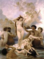 WILLIAM ADOLPHE BOUGUEREAU BIRTH OF VENUS OLD ART PAINTING PICTURE 3142OMLV