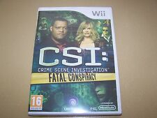 CSI: Fatal Conspiracy (Nintendo Wii, 2010) **New & Sealed**