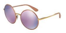 Dolce & Gabbana DG2155 12945R MATTE PINK GOLD Women's Sunglasses[100% Authentic]