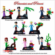 NEW Princesses & Prince custom minifigures. set of 8 figures. MORE Available. UK