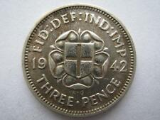 1942 Silver Threepence, GVF.