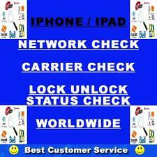 APPLE IPHONE IPAD NETWORK CHECK  SIM LOCK CHECK SE 3GS 4 4S 5 5S 5C ALL MODEL