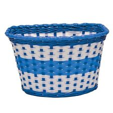 Blue Childrens Woven Bike Basket  - Free Delivery