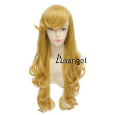 Princess Sleeping Beauty Aurora  Cosplay Wig Yellow For Party Full wigs