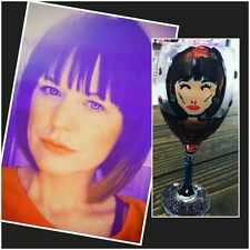 Personalised gift-hand painted wine glass+BLING! 18th, 21st, 30th, 40th birthday
