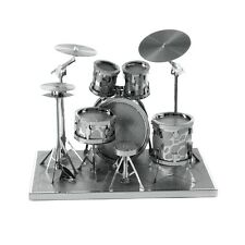 Fascinations Metal Earth 3D Laser Cut Steel Instrument Model Kit Modern Drum Set