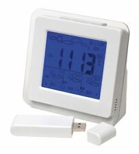 Wireless Weather Station, 4 Day Forecast, Clock, Alarm, Date, Live White BNIB