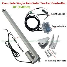 Solar Tracker Track Single Axis Complete Kit 18'' linear actuator &controller dd