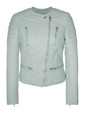 Muubaa Tagus Unique Mint Leather Biker Jacket. RRP £375. M0487. UK 8.