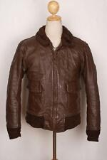 Vtg 1982 Brill Bros G-1 US NAVY Goatskin Flight Leather Jacket Size Small