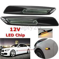 LED Side Marker Light Amber For BMW E60 E82 E87 E88 E90 E91 Smoke Len F10 Style