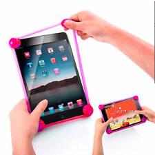 Funda Universal Bumper Silicona con Bolas para Tablet 10 Pulgadas Rosa