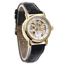 Womens Skeleton Automatic Mechanical Wrist Watch