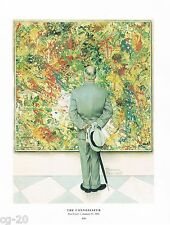 "Norman Rockwell Jackson Pollock style abstract print: ""THE CONNOISSEUR""  11""x15"""