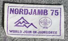 1975 14th World Jamboree Nordjamb Woven Patch - BSA
