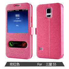 Case 2 view Window Cover Case Flip Cover For Samsung S3 S4 S5 Original Shell
