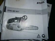 STIHL MS192 T - MS 192 T tronçonneuse : notice d'emploi