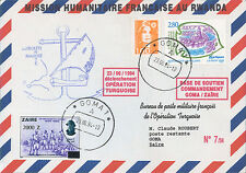 "RW94-3 FDC DJIBOUTI - ZAIRE ""French Forces / Operation TURQUOISE in Rwanda"" 1994"